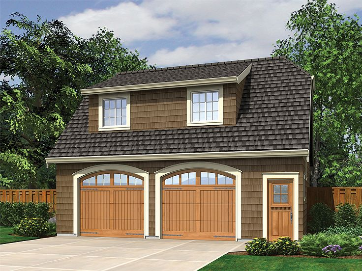 Garage apartment plans craftsman style 2 car garage for Shop with apartment