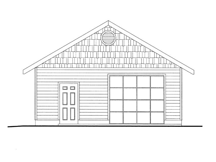 1-Car Garage with Storage, 012G-0048