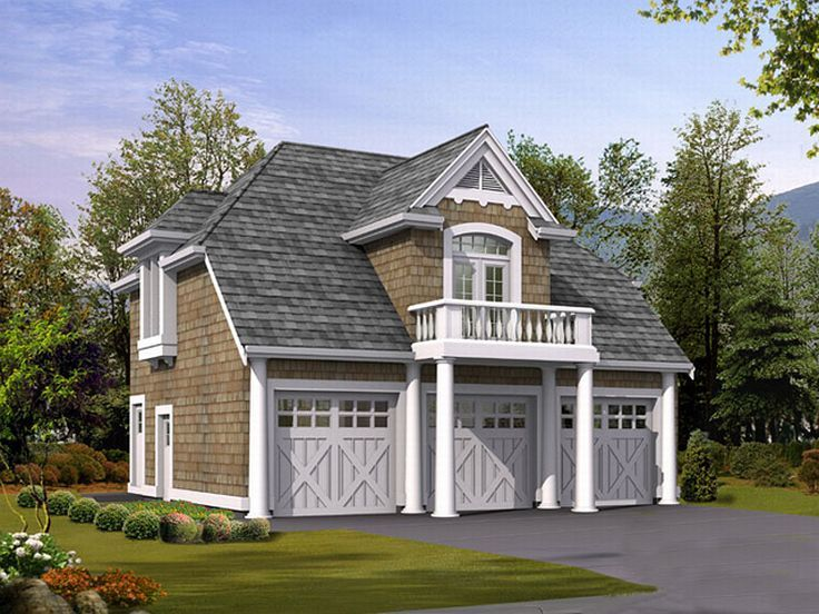 Carriage house plans craftsman carriage house plan for Three car garage house plans