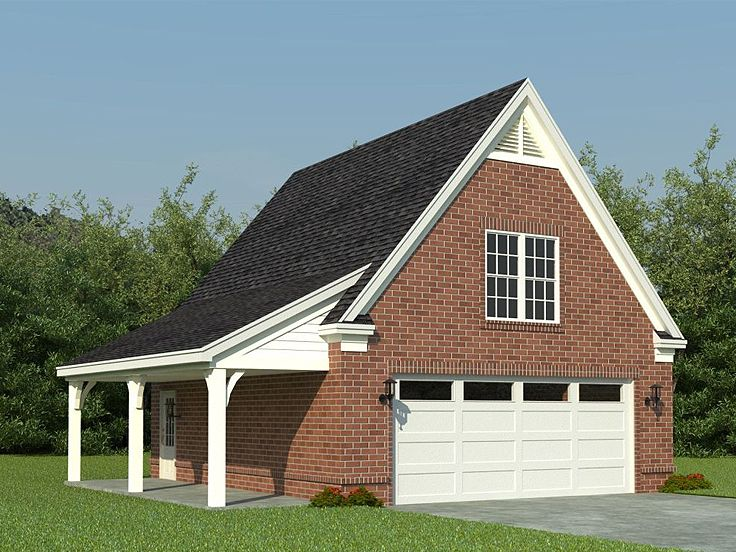 Detached garage plans with bonus room woodguides for Two car garage plans with bonus room