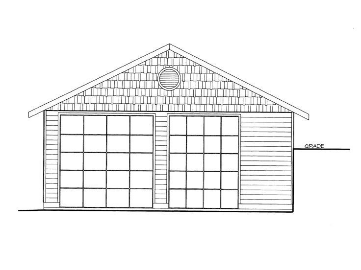 Plan 012g 0043 garage plans and garage blue prints from for 4 car tandem garage