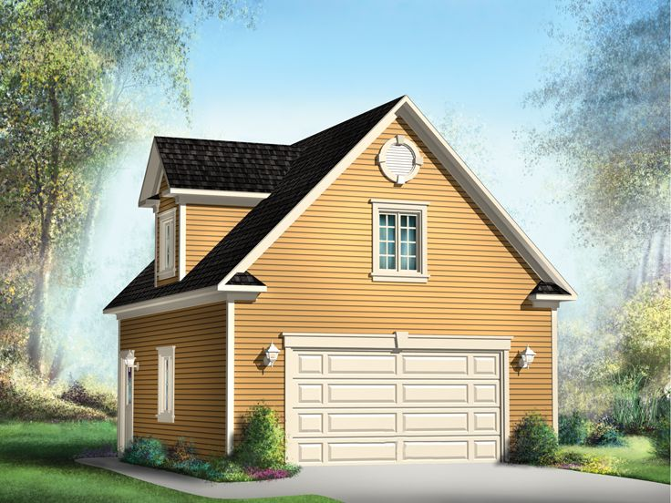 Garage Plan with Loft, 072G-0016