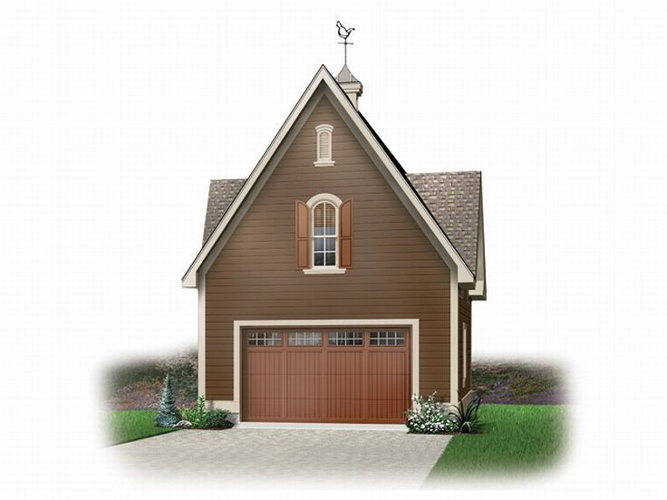 Unique 1-Car Garage Plan, 028G-0013