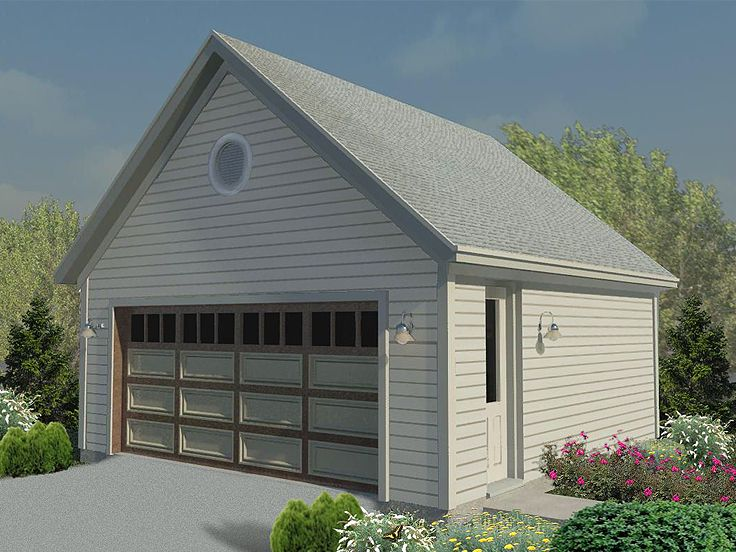 2-Car Garage Plan, 006G-0126
