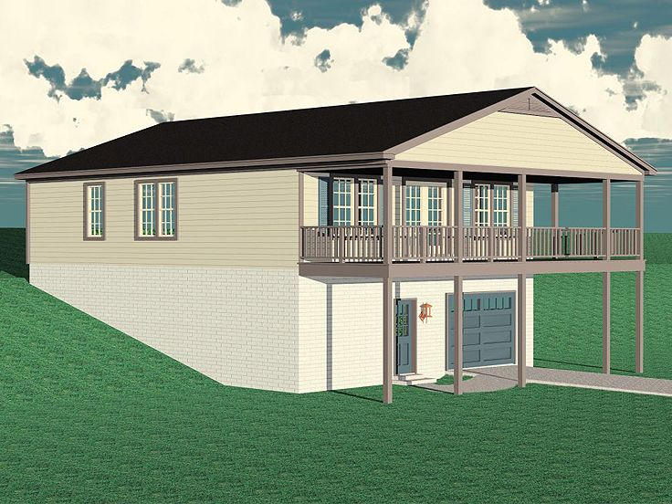 Garage Apartment Plan, 006G-0111