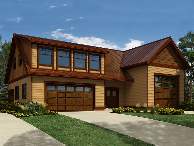 Garage apartment plans garage apartment plan with 3 car for Large carriage house plans