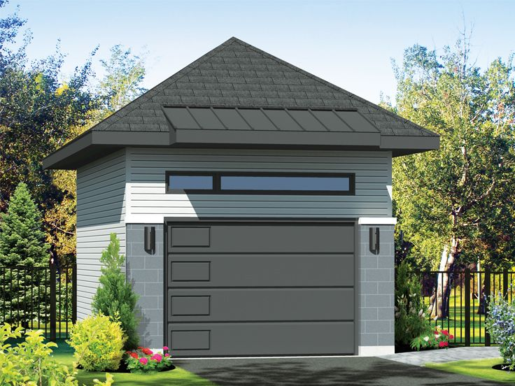 One-Car or Two-Car Garage, 072G-0042