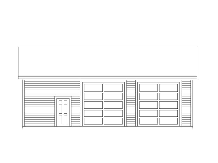 Garage plans with boat storage two car garage plan for Garage plans with boat storage