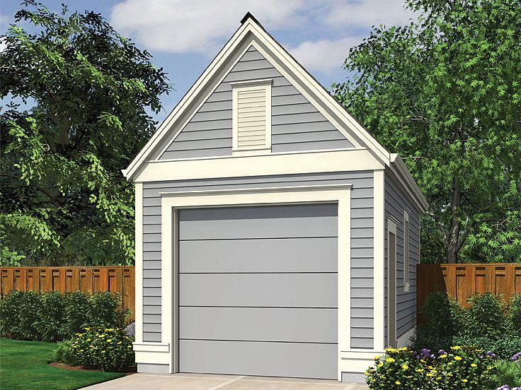 One Car Garage Plans Detached 1 Car Garage Plan With