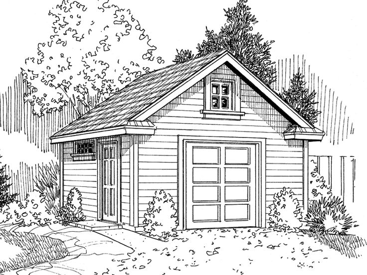 Storage Shed Plan, 051S-0001