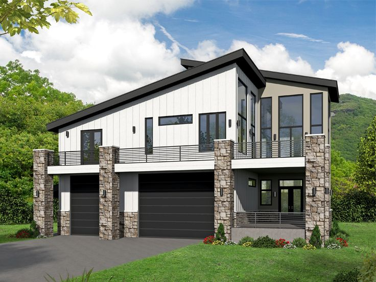 Carriage House Plans | Modern Carriage House Plan with RV ...