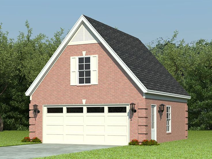 Two car garage plans 2 car garage loft plan with reverse for Garage designs with loft