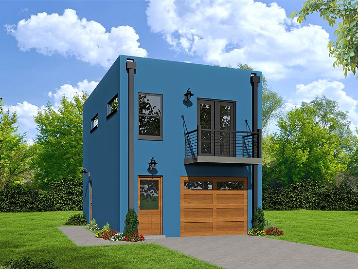 Plan 062g 0083 garage plans and garage blue prints from for Contemporary garage apartment plans