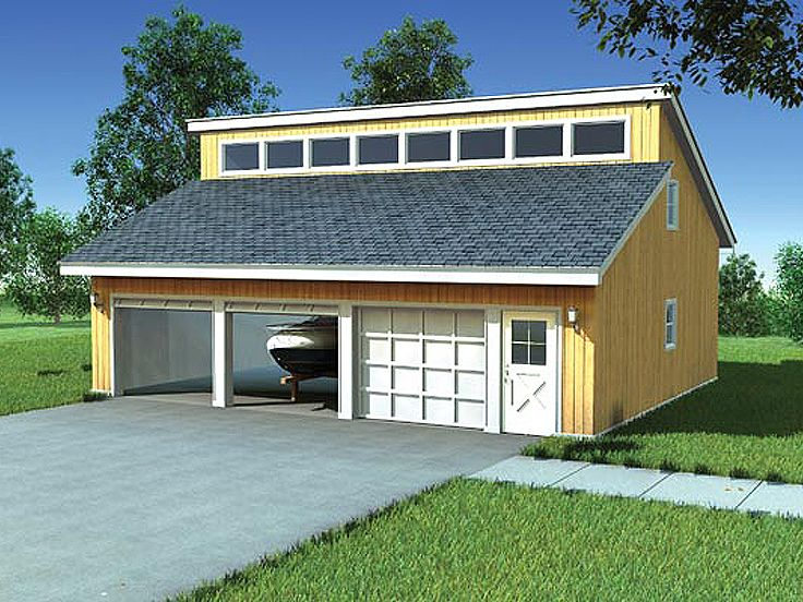 Plan 047g 0008 garage plans and garage blue prints from for Garage with attic