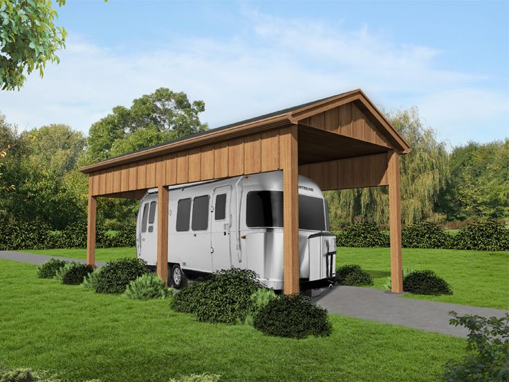Plan 062g 0114 garage plans and garage blue prints from for Rv shed ideas