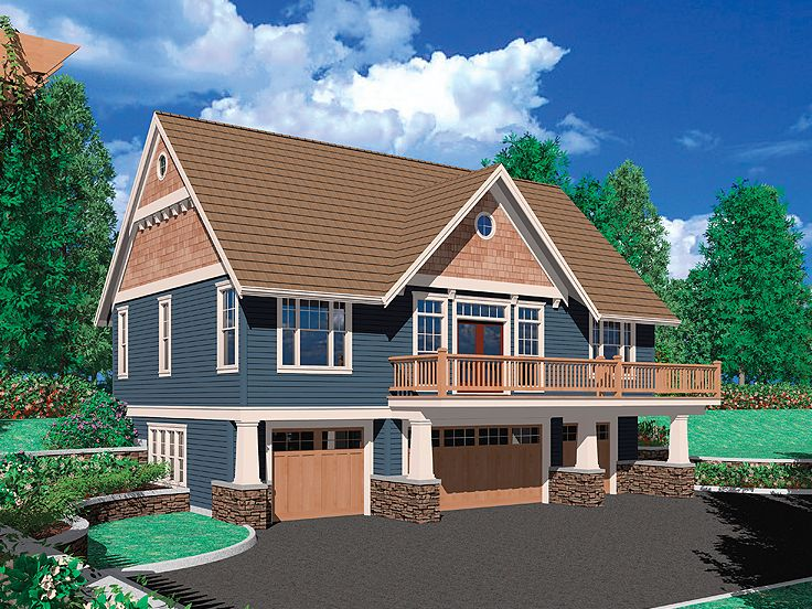 Carriage House Plans Craftsman Style Carriage House Plan with 4