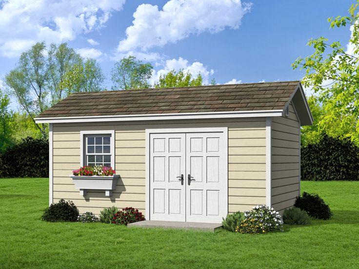 Shed plans backyard shed plan or workshop 062s 0002 at for Backyard shop plans