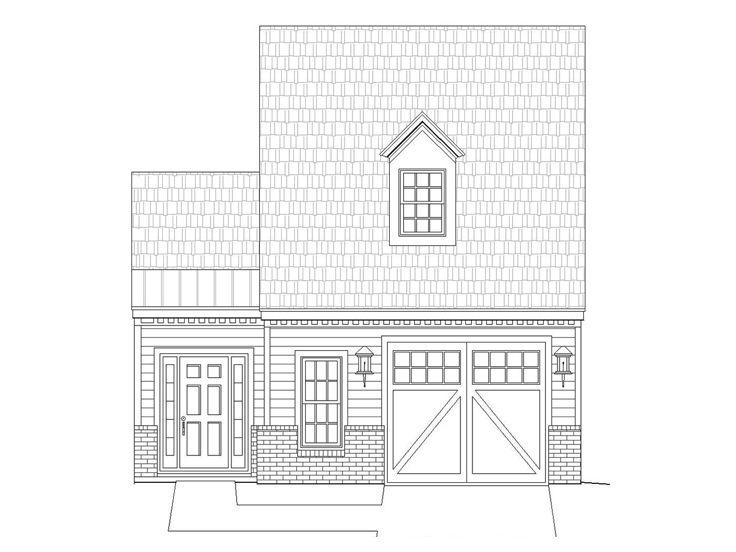 Garage plans with flex space one car garage plan with for Garage plans with shop space