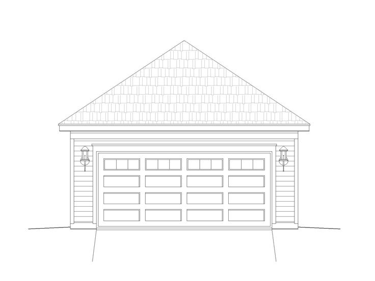 2-Car Garage Plan, 062G-0010