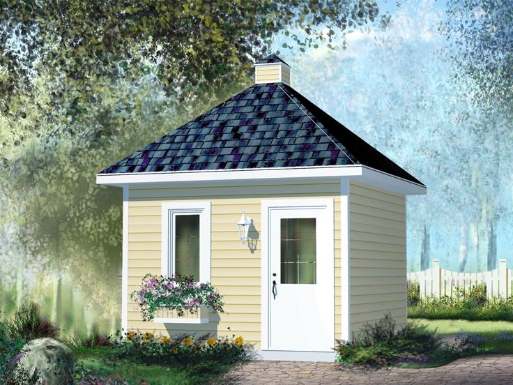 Garden Shed Plans Garden Shed With Hip Roof 072s 0016 At