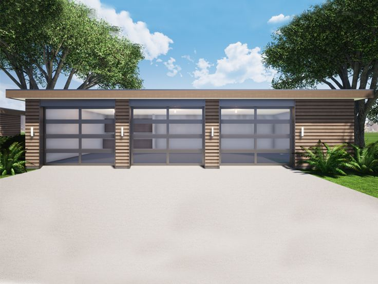 3-Car Garage with Storage, 052G-0029