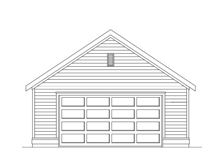 Two-Car Garage Plan, 024G-0006
