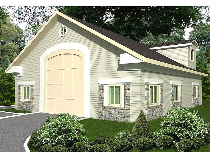 Plan 012g 0039 garage plans and garage blue prints from for Rv apartment plans