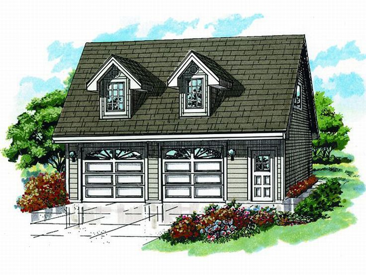 2-Car Garage Loft Plan, 033G-0026
