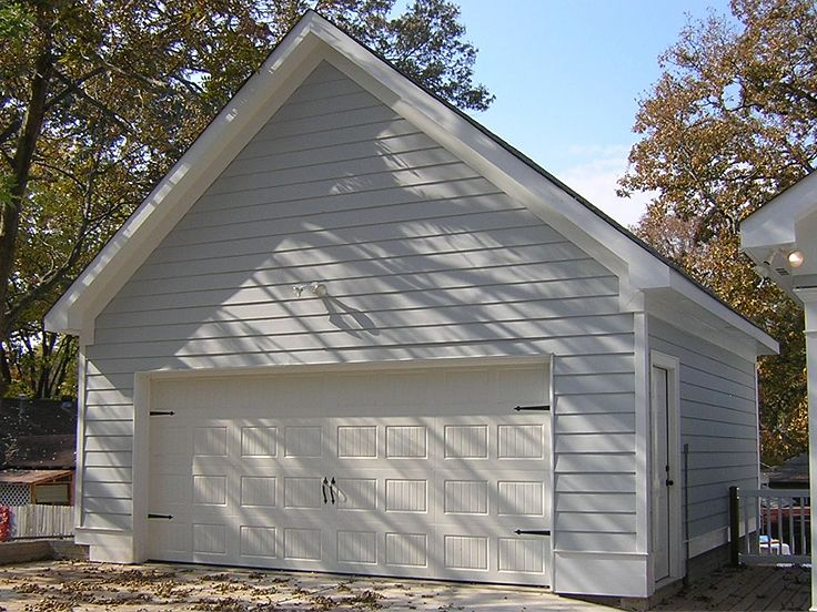 2 Car Garage Plans Two Garage Plan With Reverse Gable