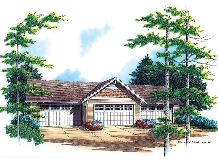 House plans with 4 car garage 4 car garage