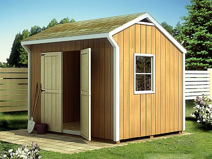 Salt Box Shed Plan, 047H-0007