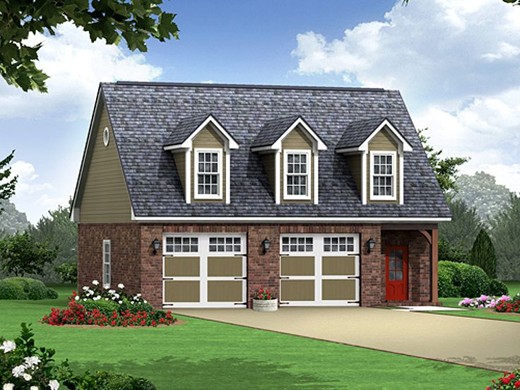 Garage apartment plans carriage house plan with 2 car for House with garage apartment