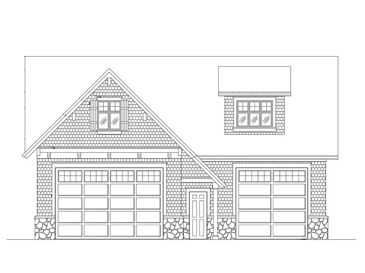 Rv garage plans craftsman style rv garage plan 024g for Tandem garage house plans