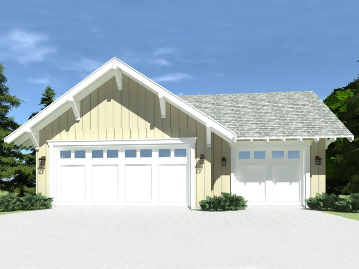 3-Car Garage Plan, 052G-0019