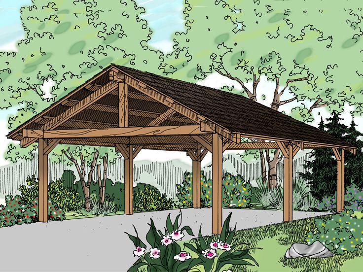 Carport plans 2 car carport plan design 051g 0048 at for Carport workshop plans