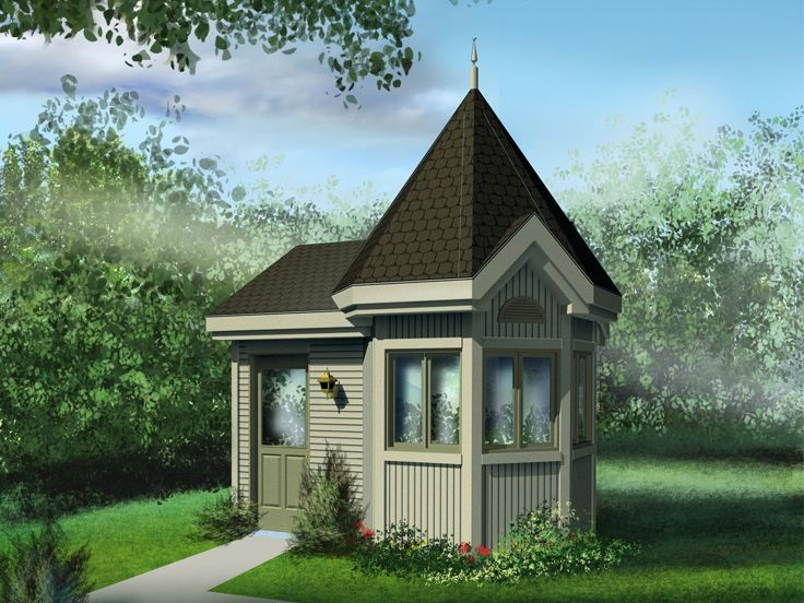 Garden shed plans victorian style garden shed 072s for Unique garden sheds designs
