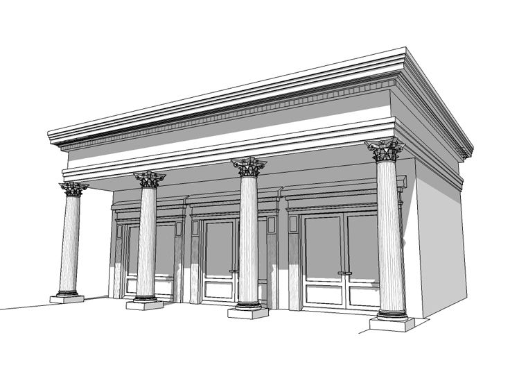 Greek Revival Garage, 052G-0004