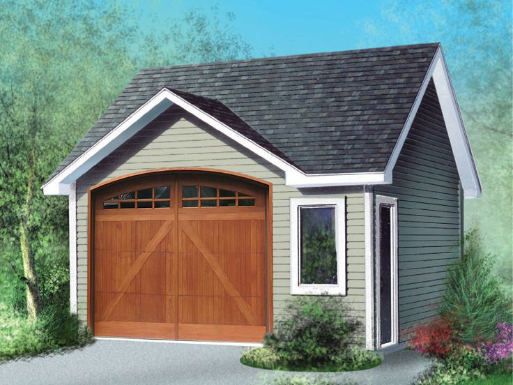Traditional Detached Garage Plan, 072G-0011