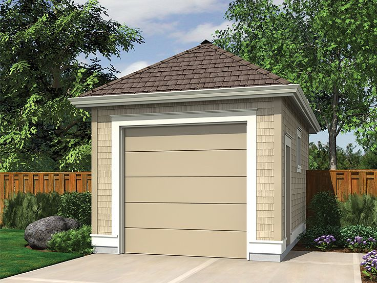 1 car garage plans single car garage plan 034g 0016 at for Single car garage plans