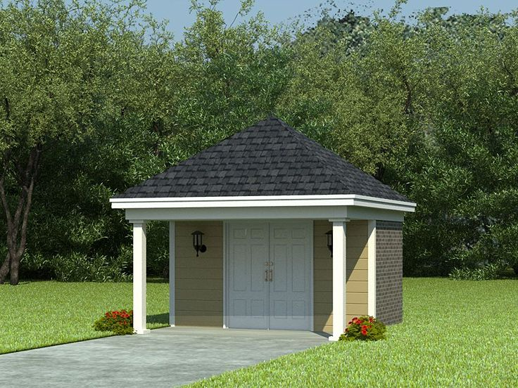 Shed plans storage shed plan with covered porch 12 x12 design 006s 0002 at - Backyard sheds plans ideas ...