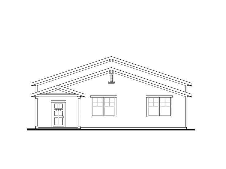 Tandem garage plans 4 car tandem garage plan with for Tandem garage house plans