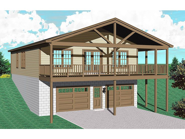Garage Apartment Plans | Garage Apartment Plan makes Cozy Lakeside ...