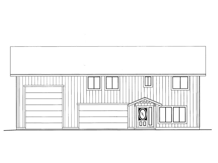 Plan 012g 0052 garage plans and garage blue prints from for Rv apartment plans