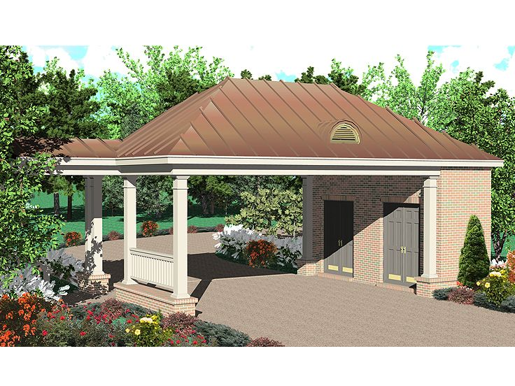Carport Plans 2 Car Carport Plan With Storage Space: carport with storage room