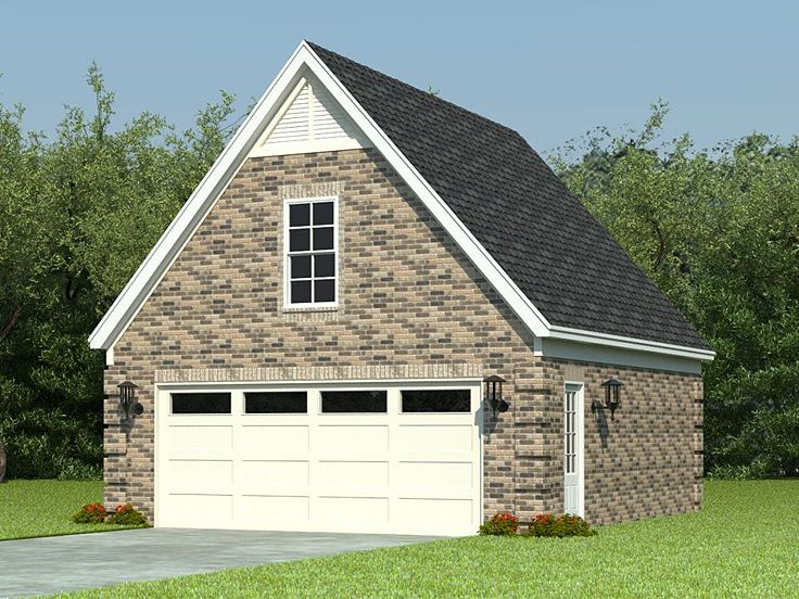 Garage loft plans two car garage loft plan with reverse for How big is a standard two car garage