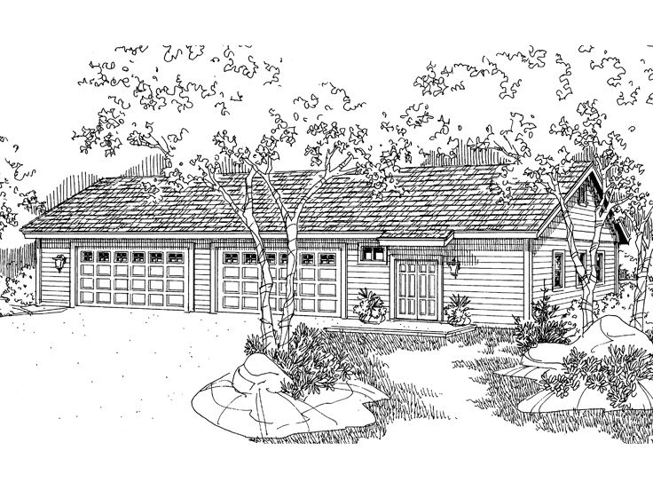 8-Car Garage Plan, 051G-0033