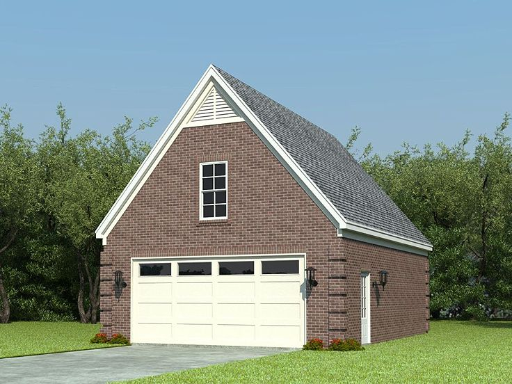 Boat storage garage plans traditional 2 car garage plan for Rv storage plans