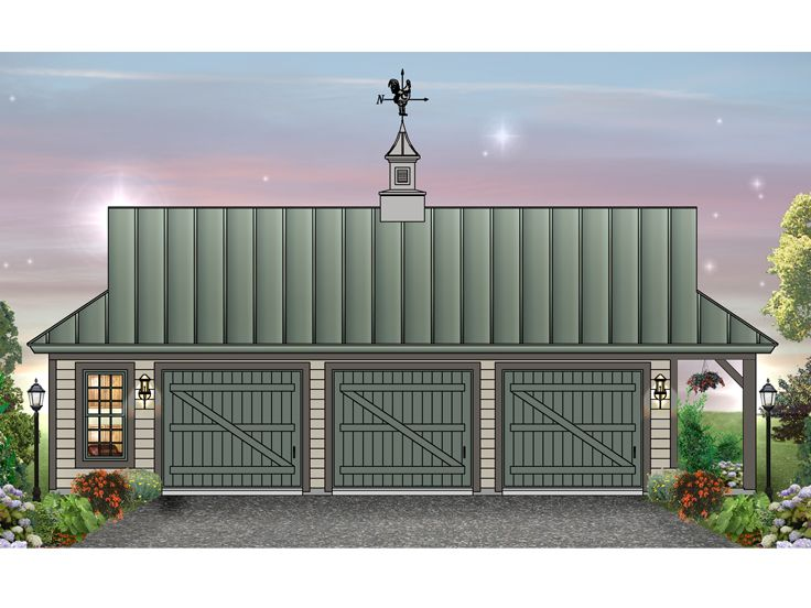 3 Car Garage Plan, 006G-0071