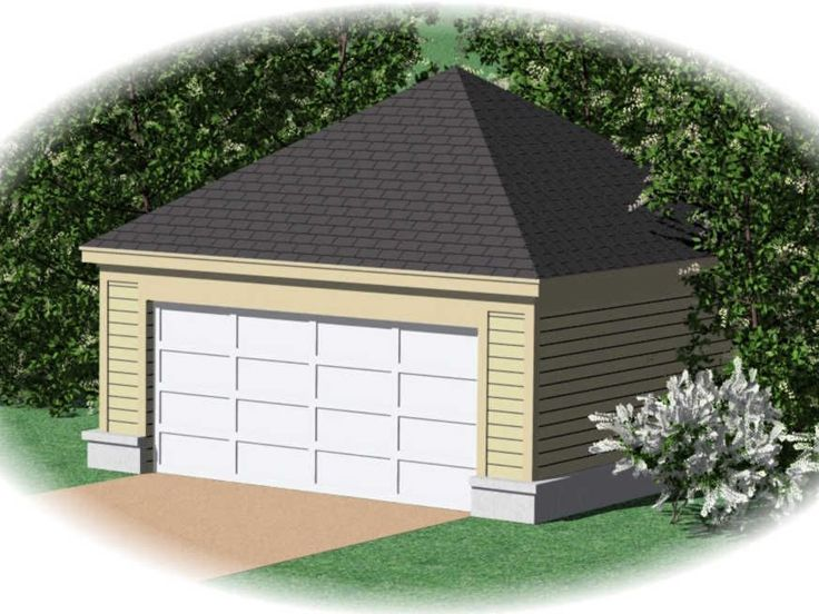 Two car garage plans 2 car garage plan with hip roof for Hip roof garage plans