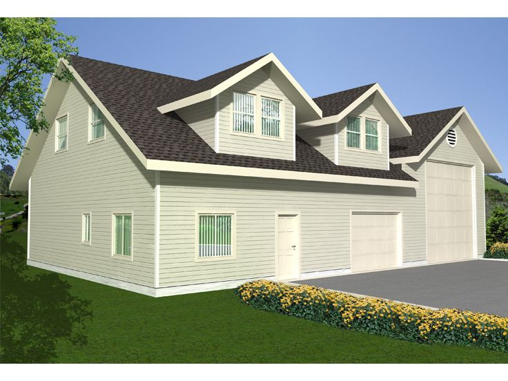 Plan 012G0036 Garage Plans and Garage Blue Prints from The Garage – Home Plans With Attached Rv Garage